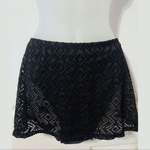 Catalina Black Bathing Suit Skirt